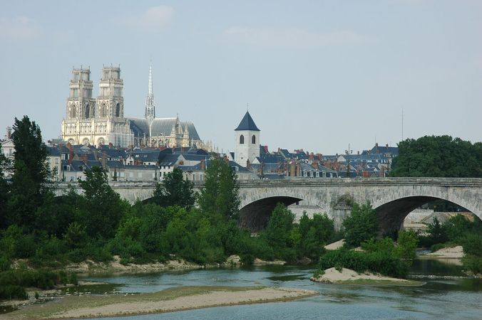 Orleans Cathedrale Pont Georges V Foto Giraud Patrick