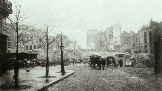 Charles_Marville_-_Demolition_of_Butte_des_Moulins_for_Avenue_de_l'Opéra
