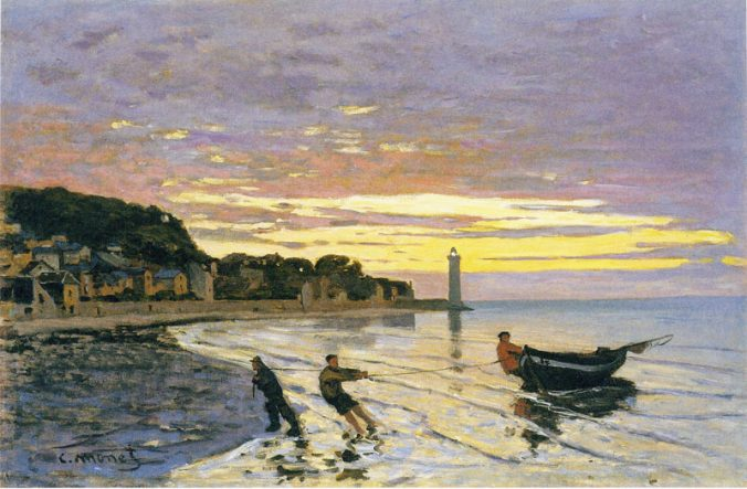 Claude Monet towing boat Honfleur