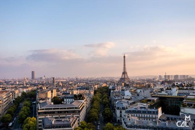 Arc de Triomphe : Vue vers la Tour Eiffel