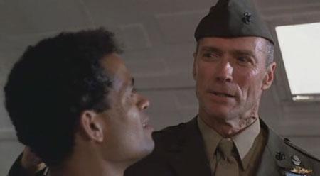 Clint Eastwood en El Sargento de Hierro