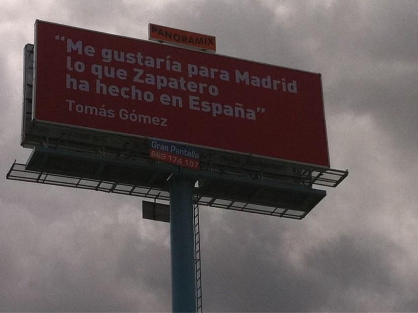 «Me gustaría para Madrid lo que Zapatero ha hecho en España» —Tomás Gómez