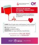 Continúa la campaña de colecta voluntaria de sangre y médula ósea