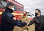 Búsqueda de Guadalupe: Anastasi visitó el comando de operaciones de bomberos voluntarios y el Ejército se sumó a los rastreos con drones