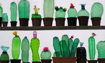 Artista convierte botellas plásticas en sorprendentes esculturas de animales y plantas