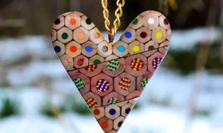 Fabrica 'joyas' con lápices de colores, el resultado es precioso!