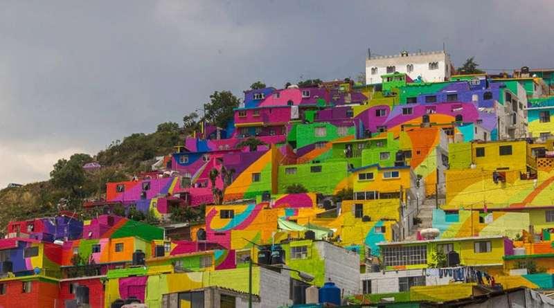 Gobierno Mexicano le pide a unos artistas urbanos pintar 200 casas para unir a la comunidad