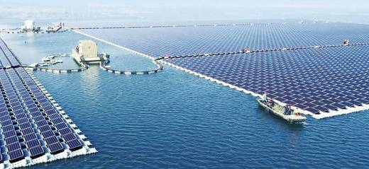 Sungrow Power floating solar farm image
