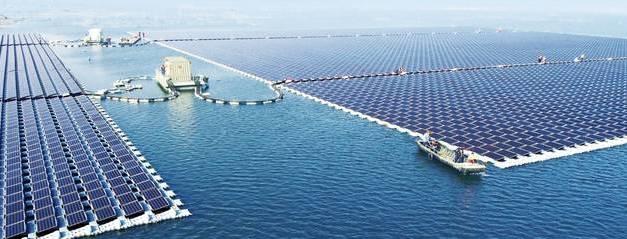La granja solar flotante más grande del mundo, ya funciona en China