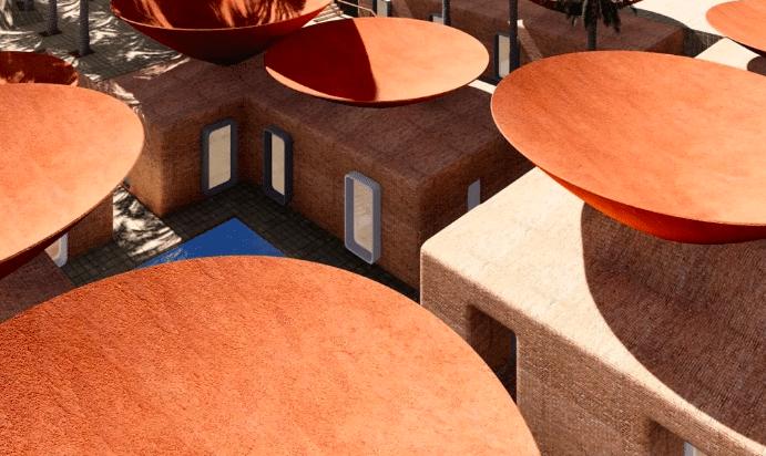 Arquitectos proyectan edificios con techos cóncavos para captar agua de lluvia
