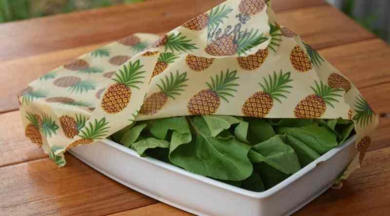 Las telas enceradas reemplazan las envolturas de plástico en la cocina