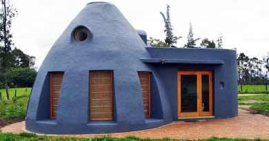Casa en Colombia hecha con bolsas de tierra mantiene se mantiene naturalmente fresca