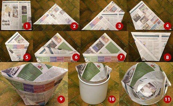 Cómo hacer bolsas de papel para tirar los residuos y dejar las bolsas de plástico