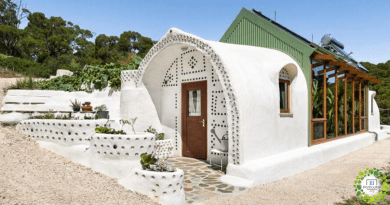 , Las Nave Tierra, Casas Autosustentables hechas de neumáticos y botellas recicladas