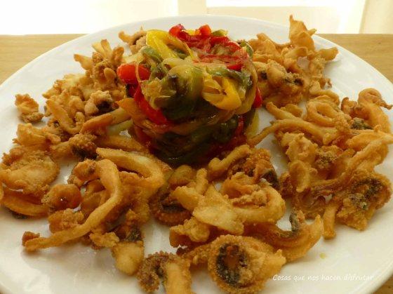Consejos para freír bien el pescaito frito. #Chocos #fritos #sepia (2)