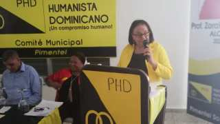 PHD realiza la tarde del domingo el lanzamiento a la Alcaldía de Zoraida de la Cruz por el Municipio de Pimentel, Provincia Duarte.-