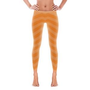 Orange Chevron Leggings
