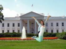 Elianne bij president Obama