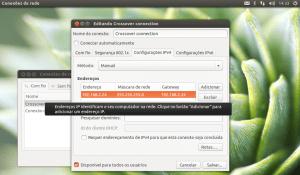 Configuração dos endereços IP