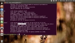No nosso caso, o endereço IP da máquina se encontra na seção wlan1: 192.168.0.107.
