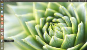 Se tudo der certo, o Minitube será adicionado automaticamente à barra de aplicativos à esquerda da tela.