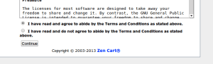 Zen Cart licença de uso