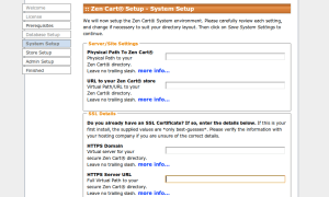 Ambiente do sistema em que o Zen Cart será instalado