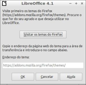 Visitar os temas do Firefox