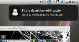 ícone do messenger na notificação da área de trabalho