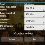 Android CPU Painel de controle