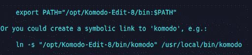 Screenshot komodo editor PHP