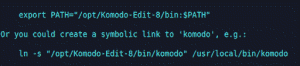 Screenshot komodo editor PHP