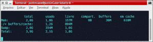 monitorar uso da memória com free no Linux