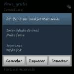 Android - captura de tela - como se conectar a uma rede wi-fi