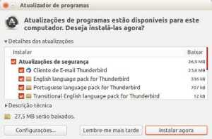 ubuntu atualizador de programas