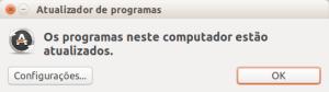 Sistema atualizado no Ubuntu