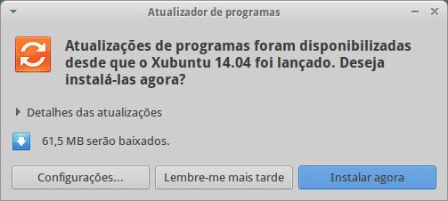 Atualização do Xubuntu 14.04 LTS