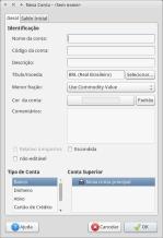 GnuCash - criar nova conta