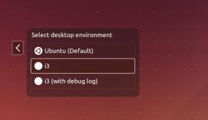 Ubuntu seleciona gerenciador de janelas i3