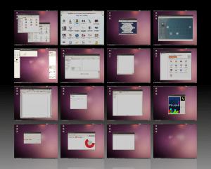 Espaços de trabalho no Ubuntu