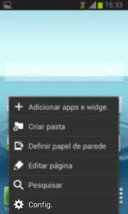 Menu principal do Android 4.1.2