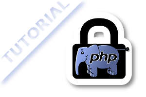 php elephpant in a pad lock