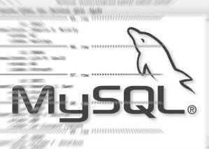 logo do mysql sobre tela exibindo resultados de uma query