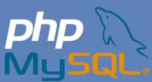 php and mysql logos