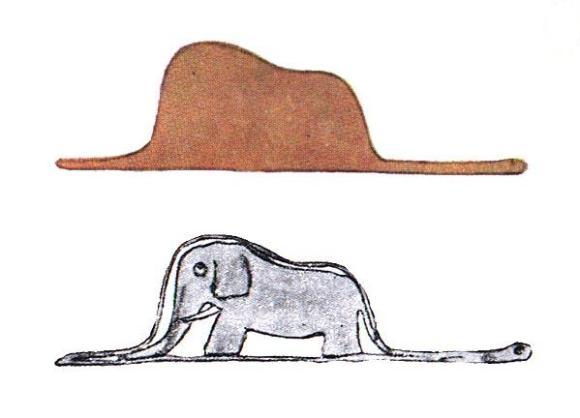 The elephant inside the snake  - O elefante dentro da cobra - em o pequeno príncipe