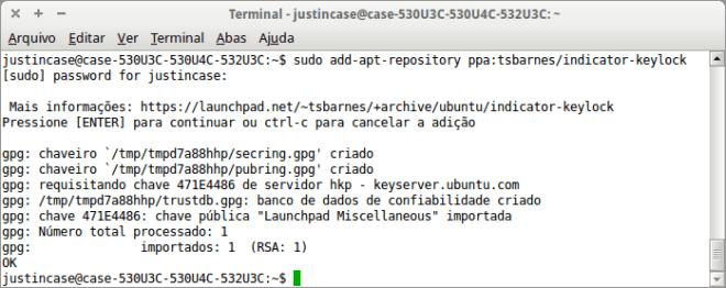 Captura de tela  do ubuntu add-apt-repository