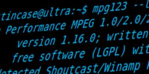 mpg123 captura de tela