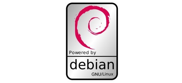 powered by Debian badge