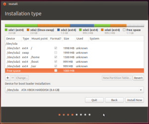 Ubuntu Partitioning Installer