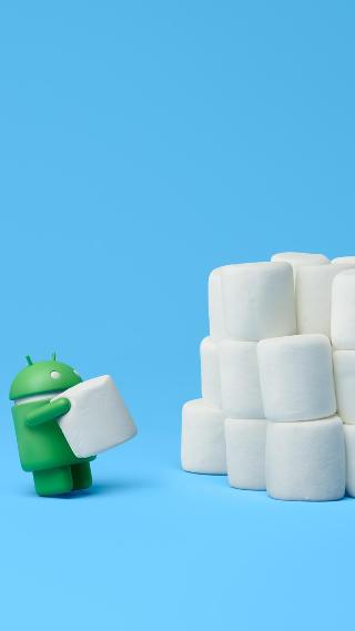 Android Marshmallow robot